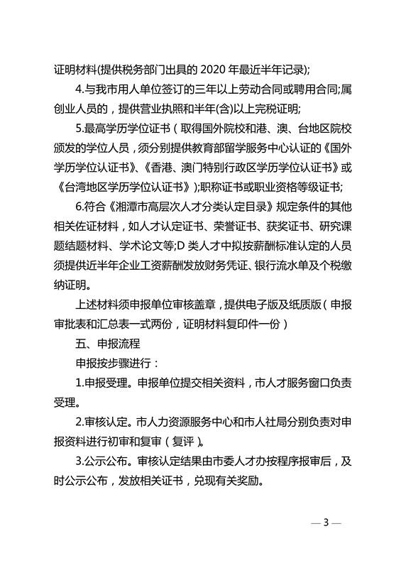 发文-关于开展2020年湘潭市新引进高层次人才申报认定工作的通知(潭人才办发〔2020〕13号 红头)(1)_3.jpg